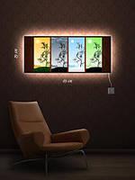 Картина с подсветкой 29х69 «Расти вьюнок»