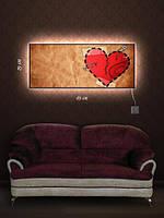 Картина с подсветкой 29х69 «Раненое сердце»