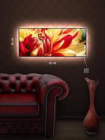 Картина с подсветкой 29х69 «Цветок распустился»