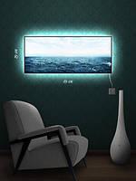 Картина с подсветкой 29х69 «Бездонное море»