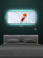 Картина с подсветкой 29х69 «Рыбка золотая»