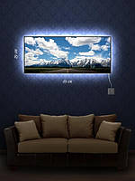Картина с подсветкой 29х69 «Дорога вперед»