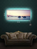 Картина с подсветкой 29х69 «На побережье»