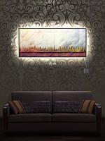 Картина с подсветкой 29х69 «Загадочный лес»