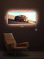 Картина с подсветкой 29х69 «Железный конь»