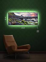 Картина с подсветкой 29х69 «Морские камешки»