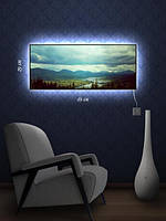 Картина с подсветкой 29х69 «Голубые дали»