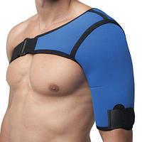 Бандаж фиксатор плечевого сустава для Левой руки неопреновый Синий Алком Размер 1