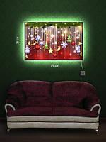 Картина с подсветкой 29х45 «Праздничная мишура»