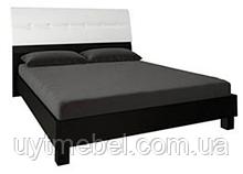 Ліжко Віола 1600 з підйом.хутро. білий глянець/чорний мат. (Миромарк)