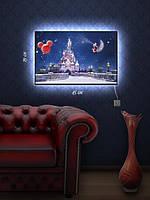 Картина с подсветкой 29х45 «Замок Дисней»