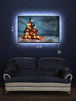 Картина с подсветкой 29х45 «Новогодняя елочка»