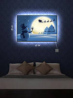 Картина с подсветкой 29х45 «Пока, Санта»