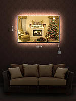Картина с подсветкой 29х45 «Рождественский вечер»