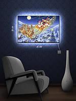 Картина с подсветкой 29х45  «Праздники Микки»