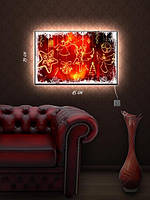 Картина с подсветкой 29х45 «Рождественские ангелы»