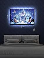 Картина с подсветкой 29х45 «Микки и Минни Маус»