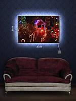 Картина с подсветкой 29х45 «Пряничный человечек»
