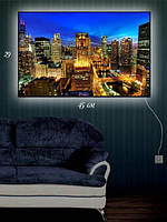 Картина с подсветкой 29х45  «Вечерний город»