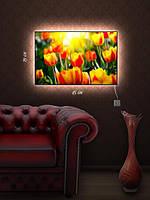 Картина с подсветкой 29х45 «Солнечные тюльпаны»