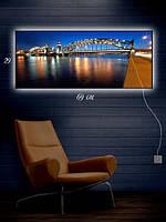 Картина с подсветкой 29х69 «Вечерний мост»