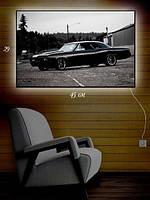 Картина с подсветкой 29х45  «Черная машина»
