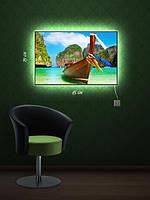 Картина с подсветкой 29х45 «Лодка»