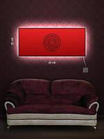 Картина с подсветкой 29х69 «Круглый лабиринт»