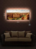 Картина с подсветкой 29х69 «Гранд-Каньон»