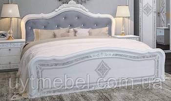 Ліжко Луіза Люкс 1600 з підйом. мех.+корона білий глянець (Міромарк)