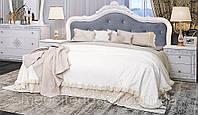 Кровать Луиза 1600 с подъем. мех. белый глянец (Миромарк)