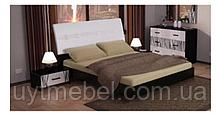 Ліжко Терра 1600 з підйомним мех. глянець білий/чорний мат (Міромарк)