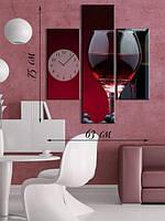 Картина 75х63 на холсте «Вино в бокале»