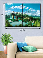 Модульная картина 40х60 на холсте «Природная невинность»