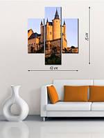 Модульная картина 75х63 на холсте «Замок»