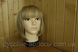 Жіночий парик з натуральних волосся. Каре блонд.