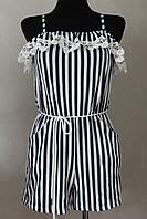 Комбинезон женский полоска шортики, фото 1