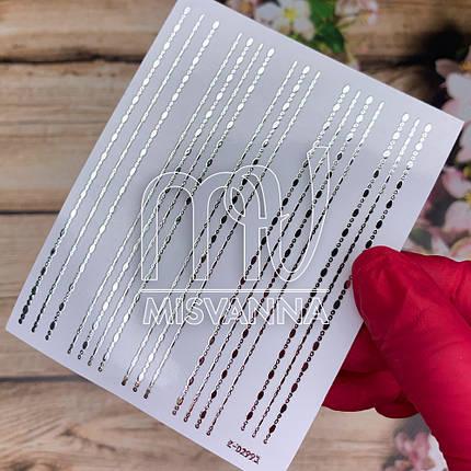 Гнучка стрічка для декору Z-D2993, срібло, фото 2