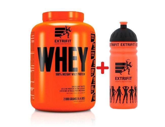 Сывороточный протеин концентрат EXTRIFIT100% Instant Whey Protein + Water Bottle 750 мл (2 кг) экстрифит blueberry