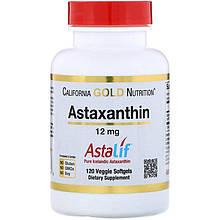 """Астаксантин California Gold Nutrition """"Astaxanthin"""" 12 мг (120 таблеток)"""