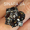 Изумительное кольцо с натуральным раух топазом из серебра  с черным родием - Кольцо раух топаз серебро 925, фото 6
