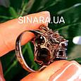 Изумительное кольцо с натуральным раух топазом из серебра  с черным родием - Кольцо раух топаз серебро 925, фото 9