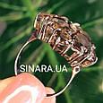 Изумительное кольцо с натуральным раух топазом из серебра  с черным родием - Кольцо раух топаз серебро 925, фото 2