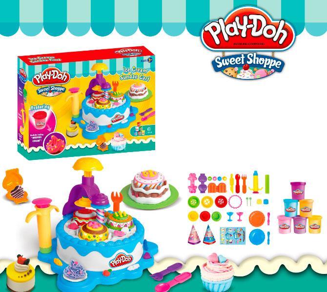 Большое игровой набор пластилин Play-Doh Кондитерская sct