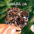 Изумительное кольцо с натуральным раух топазом из серебра  с черным родием - Кольцо раух топаз серебро 925, фото 3