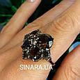 Изумительное кольцо с натуральным раух топазом из серебра  с черным родием - Кольцо раух топаз серебро 925, фото 7