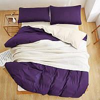 Турецкое постельное белье из шелковых нитей Евро фиолетовый
