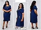Платье летнее в горошек  синий  № 6428, фото 2