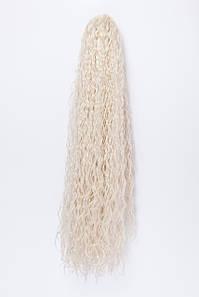 Волнистый шиньон на крабе №12. цвет классический блонд