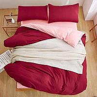 Качественный комплект постельного белья Турция Люкс-сатин  Нежная роза